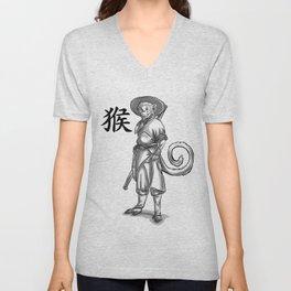 Chinese Zodiac Monkey Unisex V-Neck