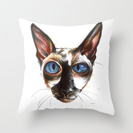 Die Katze Throw Pillow