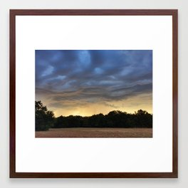 Sunrise Over Sparks, Oklahoma Framed Art Print
