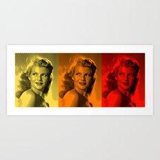 Rita Hayworth Color Art Print