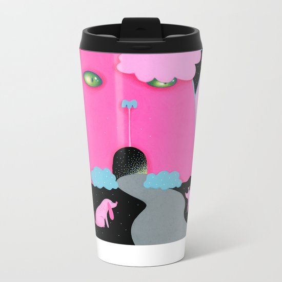Cat Mountain Metal Travel Mug