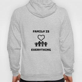 Family Pixel Heart Hoody