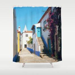 Obidos, Portugal (RR 175) Analog 6x6 odak Ektar 100 Shower Curtain