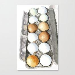 Eggs in carton Canvas Print