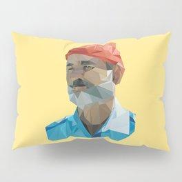 Steve Zissou low poly portrait Pillow Sham