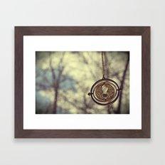 Hermoine's Time Turner Necklace Framed Art Print