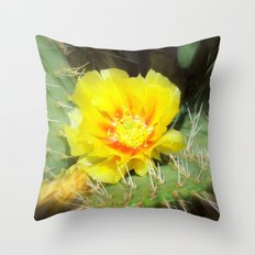 Prickly Yellow Beauty Throw Pillow