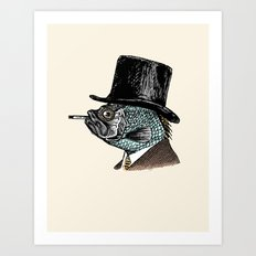 Mr. Fish Art Print