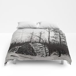 Winter Woodlot Comforters