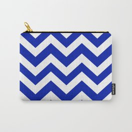 Blue (Pantone) - blue color - Zigzag Chevron Pattern Carry-All Pouch
