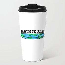 The Earth Is Flat Travel Mug