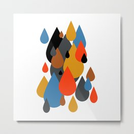 Mid Century Modern Rain Drops on Your Head 1 Metal Print