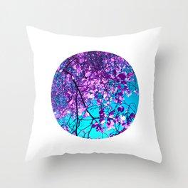 purple tree XXIX Throw Pillow