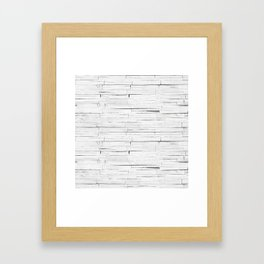 White Wooden Planks Wall Framed Art Print