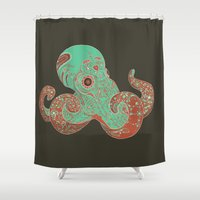 camouflage Shower Curtains featuring Camouflage by Mikael Biström