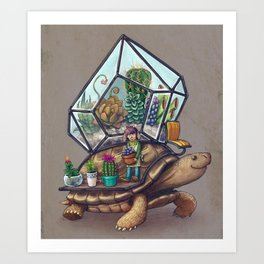 Tortoise Terrarium Art Print