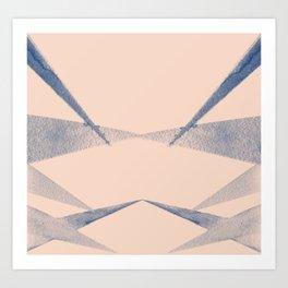 Angular Lines Art Print