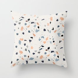 terrazzo pattern Throw Pillow