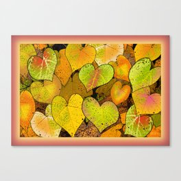 THIMBLE BERRY HEARTS Canvas Print