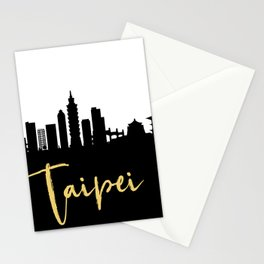TAIPEI TAIWAN DESIGNER SILHOUETTE SKYLINE ART Stationery Cards