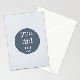 You Did It! Stationery Cards
