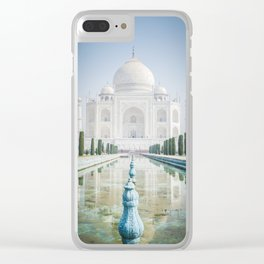 Taj Mahal Water Reflection Clear iPhone Case