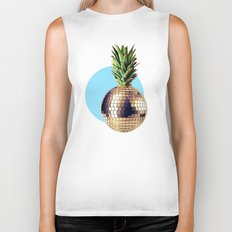 Ananas party (pineapple) blue version Biker Tank