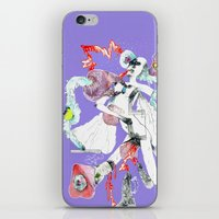 three of the possessed iPhone & iPod Skins featuring ONLY POSSESSED GIRLS DIDDLE by Kira Leigh