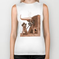 chicago bulls Biker Tanks featuring Bulls Eye by Laura Brightwood
