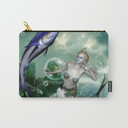 Marlin with mermaid Carry-All Pouch