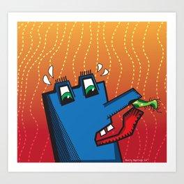 Alien Booger Art Print