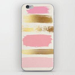 Brush Strokes (Rose/Gold) iPhone Skin