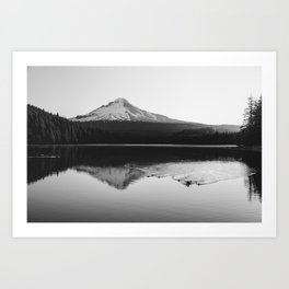 Wild Mountain Sunrise - Black and White Nature Photography Art Print