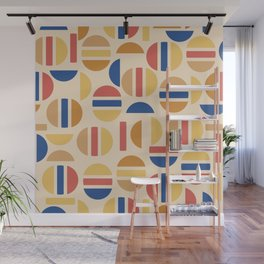 Mid Century Mod Half Circle Pattern Wall Mural
