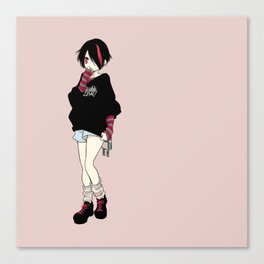 red punk girl Canvas Print
