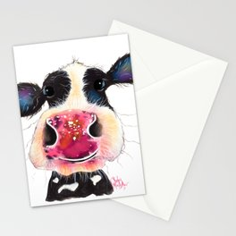 NoSeY CoW ' BuBBLeS ' BY SHiRLeY MacARTHuR Stationery Cards