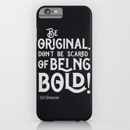 Famous British singer quote   pop music fans. iPhone Case