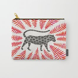 Black Jaguar – Red Leaf Palette Carry-All Pouch