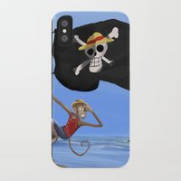luffy iPhone & iPod Cases featuring Monkey D Luffy by Laércio Messias