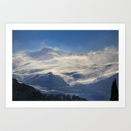 """""""Brave mountains"""". Into the windy storm Art Print"""
