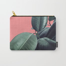 Ficus Elastica Summer Vibes #1 #coral #foliage #decor #art #society6 Carry-All Pouch