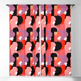Together Girl Power - Pattern #girlpower Blackout Curtain