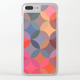 Moroccan pattern multicolor Clear iPhone Case