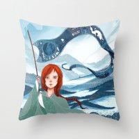 saga Throw Pillows featuring The Banner Saga by Tori