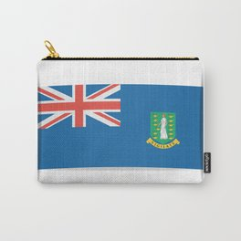 Flag of British Virgin Islands. The slit in the paper with shadows.  Carry-All Pouch