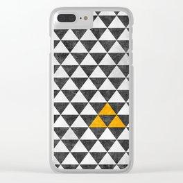 Triangle - Yellow III Clear iPhone Case