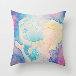 Queen Elsa Throw Pillow