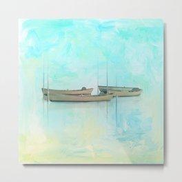 Tranquil Shores - Boats Metal Print
