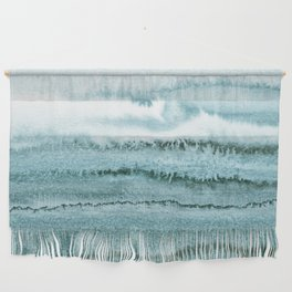 WITHIN THE TIDES - OCEAN TEAL Wall Hanging