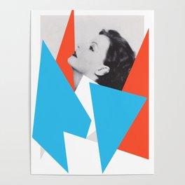 Greta Garbo - Abstract Collage Art photo Poster